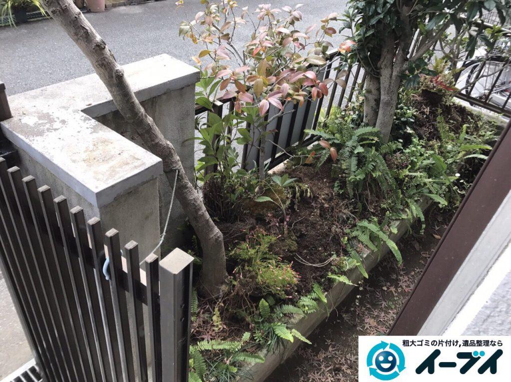2017年3月20日大阪府大阪市東淀川区で庭の植木や廃品を片付け不用品回収をしました。写真7