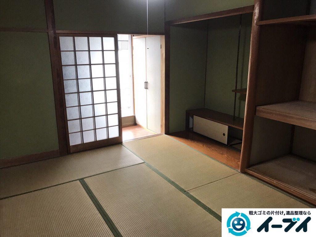 2017年4月4日大阪府箕面市で遺品整理に伴う処分で布団や依頼など片付けました。写真1