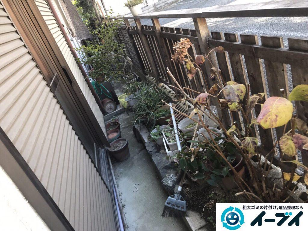 2017年3月20日大阪府大阪市東淀川区で庭の植木や廃品を片付け不用品回収をしました。写真6