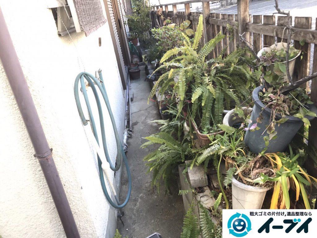 2017年3月20日大阪府大阪市東淀川区で庭の植木や廃品を片付け不用品回収をしました。写真5