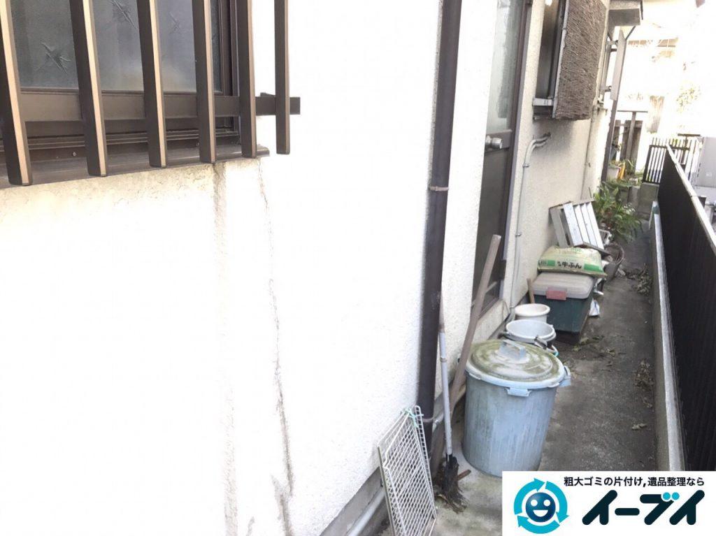 2017年3月20日大阪府大阪市東淀川区で庭の植木や廃品を片付け不用品回収をしました。写真4