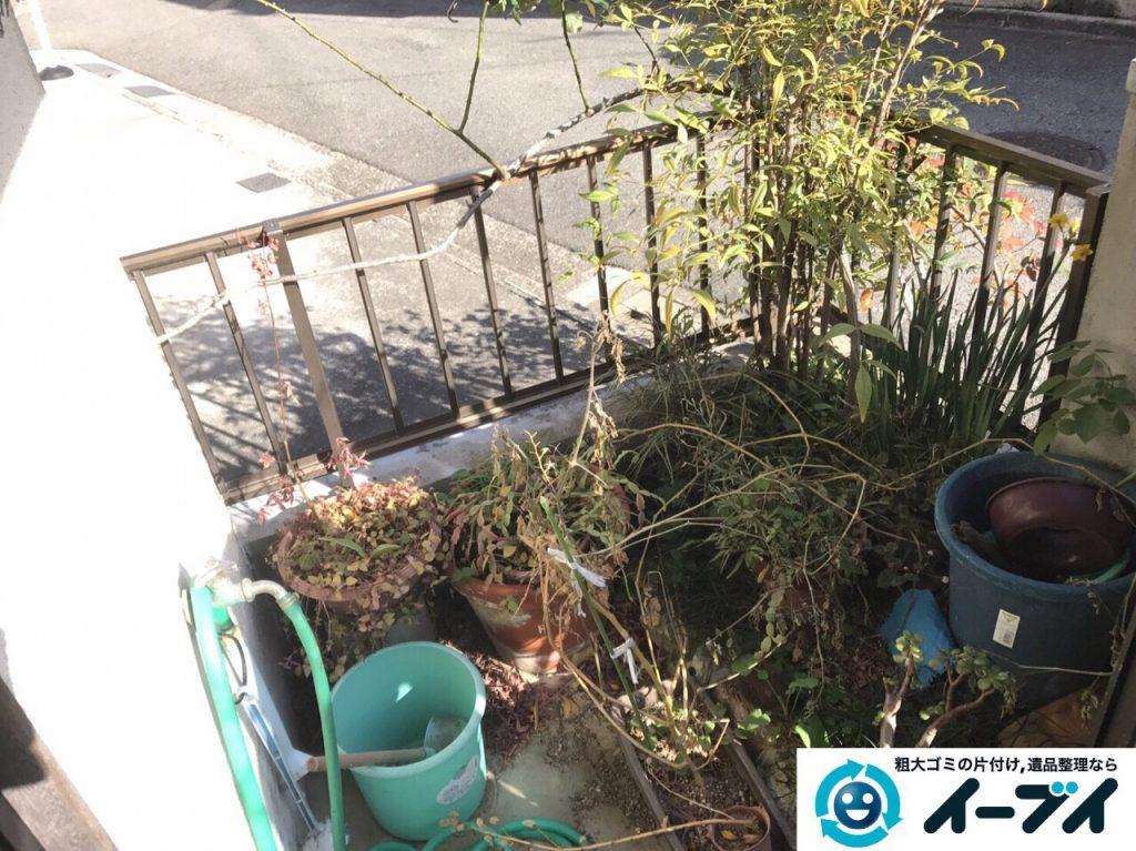 2017年3月20日大阪府大阪市東淀川区で庭の植木や廃品を片付け不用品回収をしました。写真3