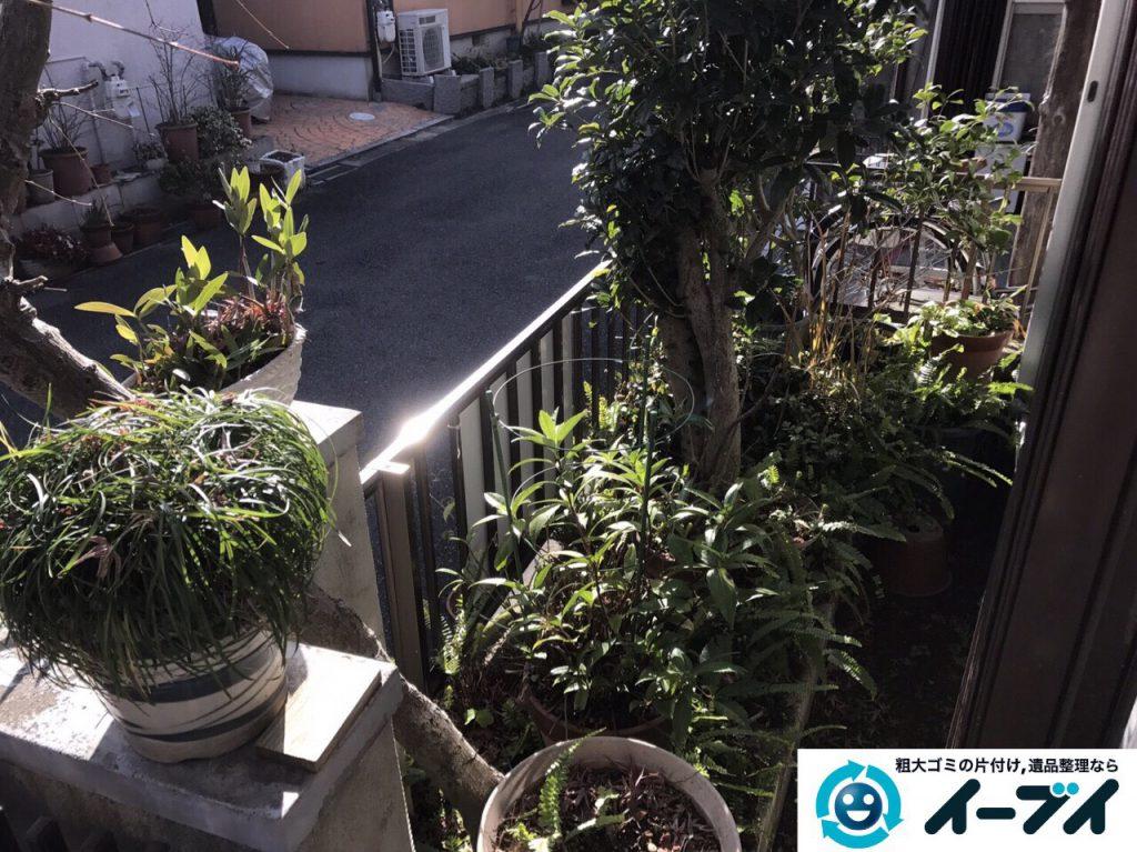 2017年3月20日大阪府大阪市東淀川区で庭の植木や廃品を片付け不用品回収をしました。写真2
