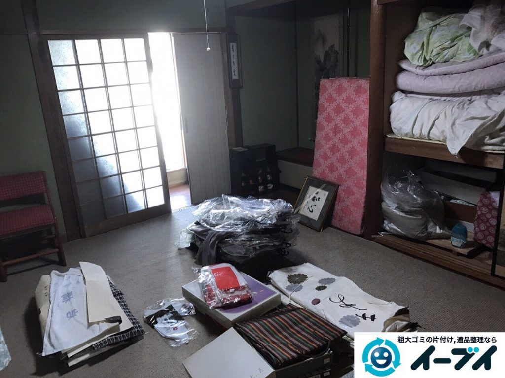 2017年4月4日大阪府箕面市で遺品整理に伴う処分で布団や依頼など片付けました。写真2