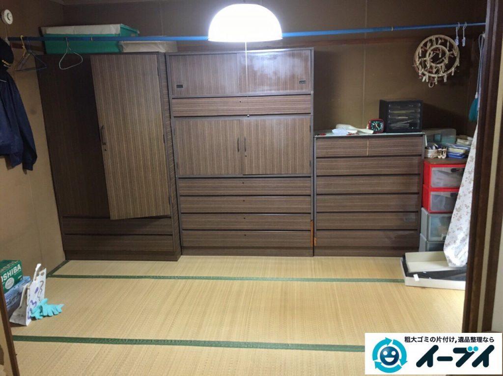 2017年4月16日大阪府摂津市で遺品整理に伴う家具や遺品の片付けをしました。写真2