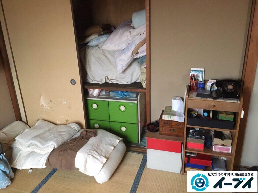 2017年4月16日大阪府摂津市で遺品整理に伴う家具や遺品の片付けをしました。写真1