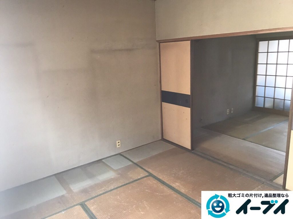 2017年4月21日大阪府大阪市北区で遺品整理に伴い家具や遺品処分をしました。写真4