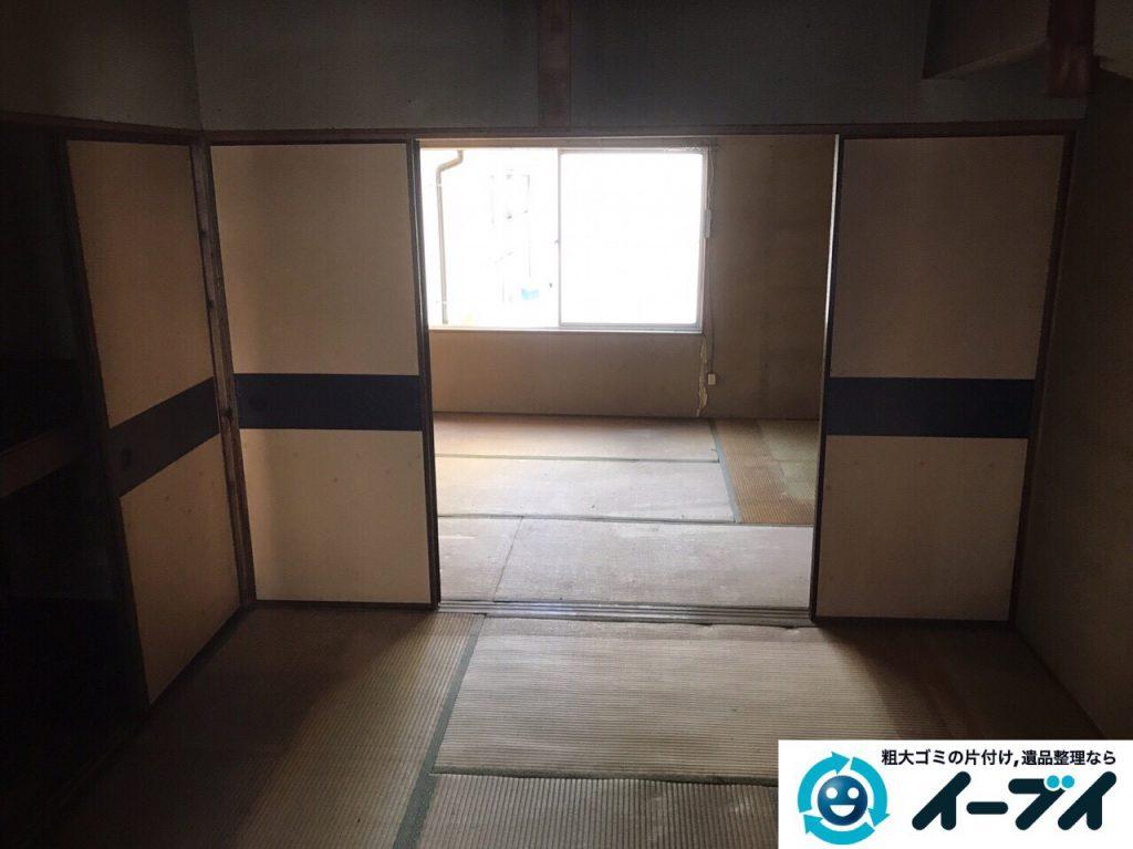 2017年4月21日大阪府大阪市北区で遺品整理に伴い家具や遺品処分をしました。写真