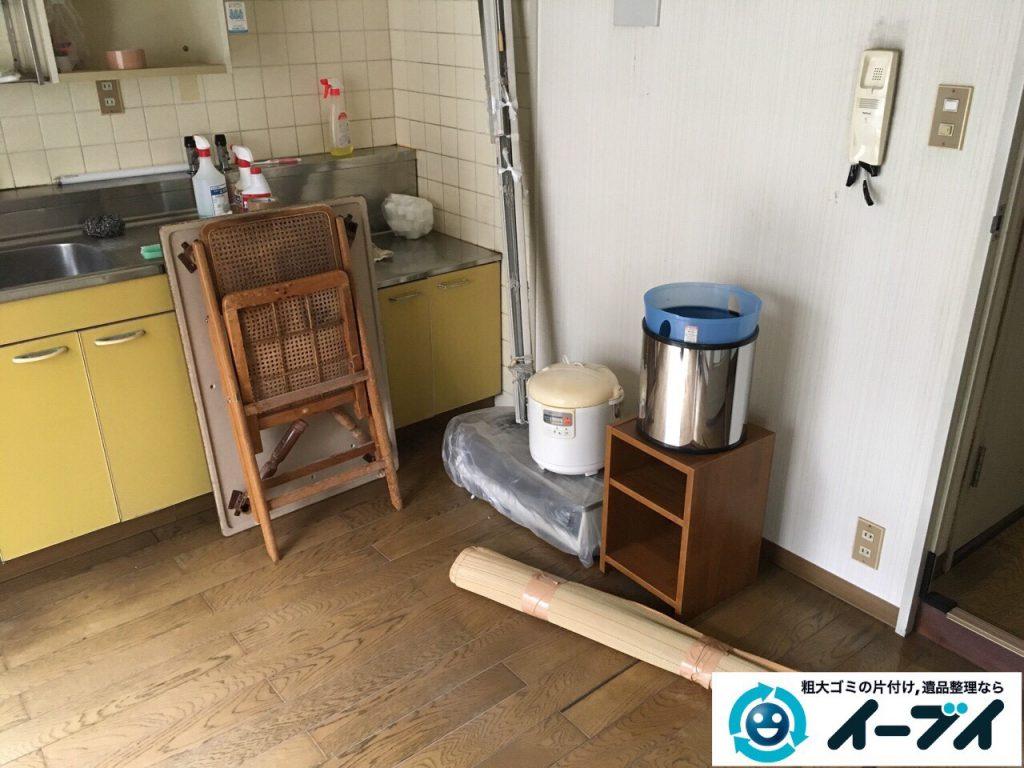 2017年4月12日大阪府大阪市旭区でソファーやテーブル等の粗大ゴミの不用品回収をしました。写真2