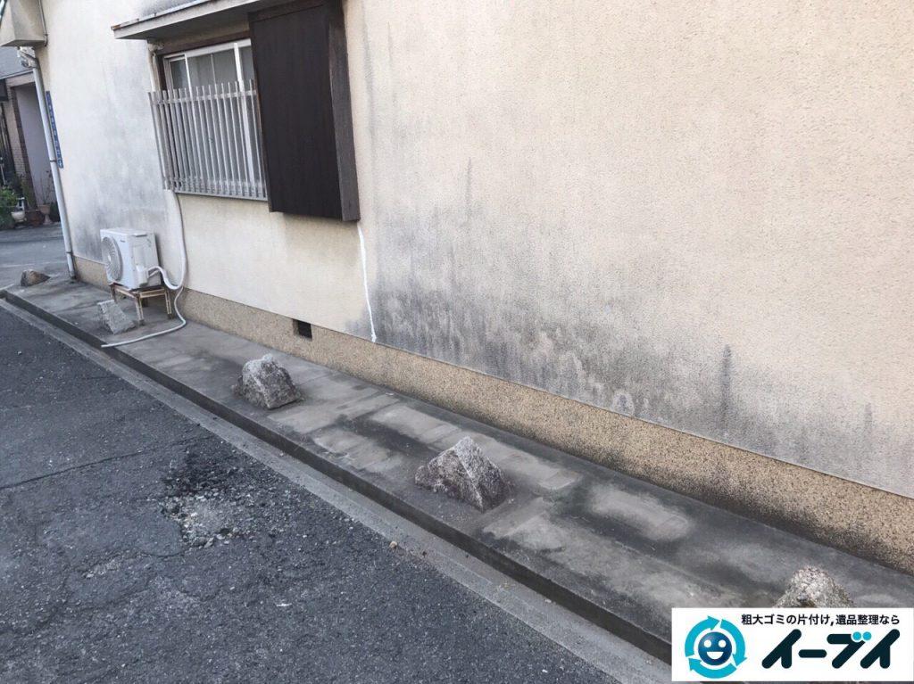 2017年4月30日大阪府大阪市淀川区で植木鉢や庭の廃品や物置の不用品回収をしました。写真8