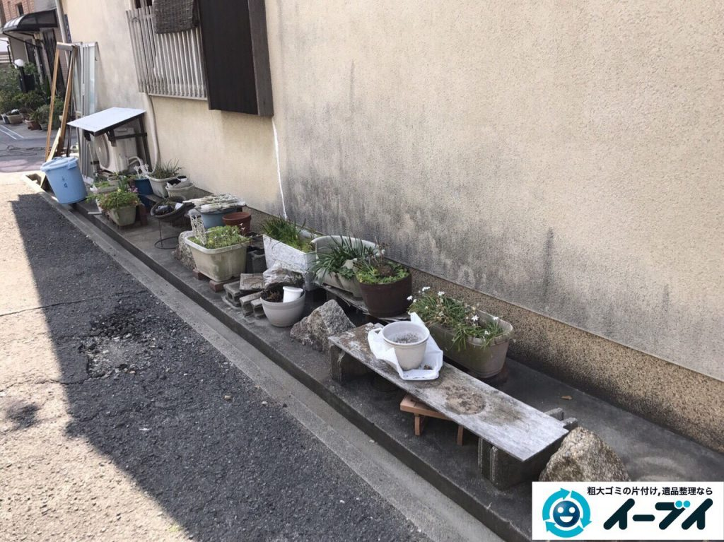 2017年4月30日大阪府大阪市淀川区で植木鉢や庭の廃品や物置の不用品回収をしました。写真7