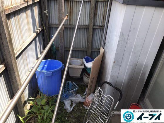 2017年4月30日大阪府大阪市淀川区で植木鉢や庭の廃品や物置の不用品回収をしました。写真5