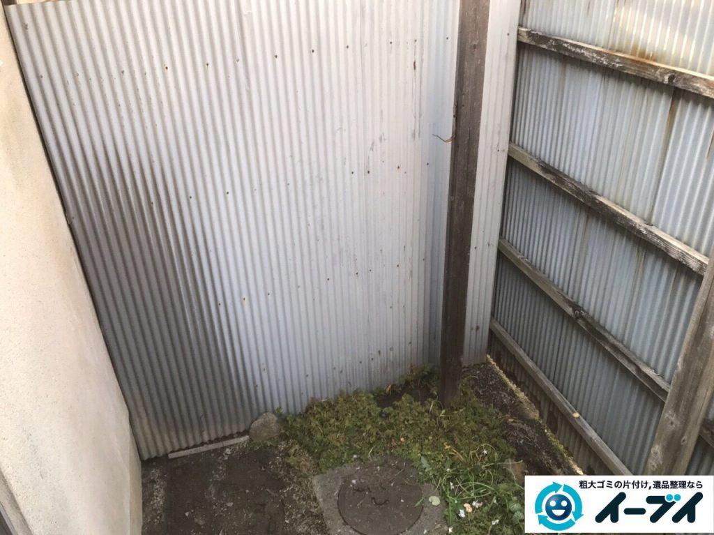 2017年4月30日大阪府大阪市淀川区で植木鉢や庭の廃品や物置の不用品回収をしました。写真4