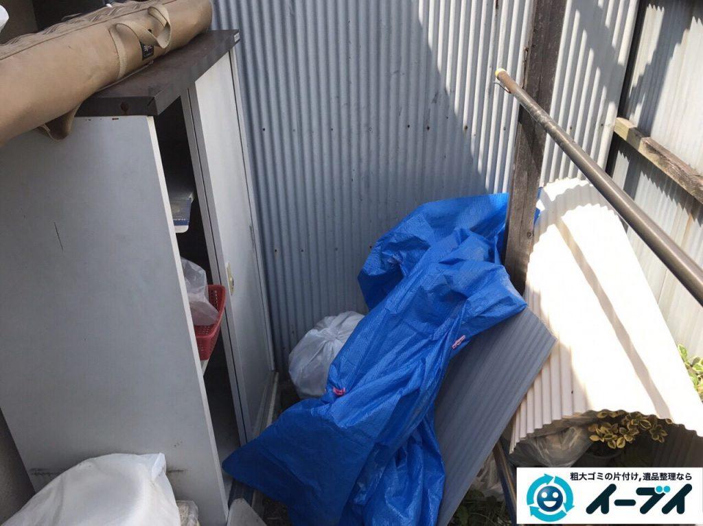 2017年4月30日大阪府大阪市淀川区で植木鉢や庭の廃品や物置の不用品回収をしました。写真3