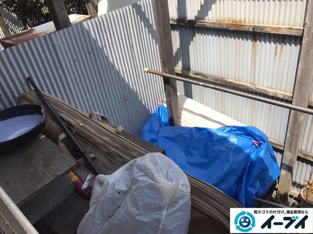 2017年4月30日大阪府大阪市淀川区で植木鉢や庭の廃品や物置の不用品回収をしました。写真1