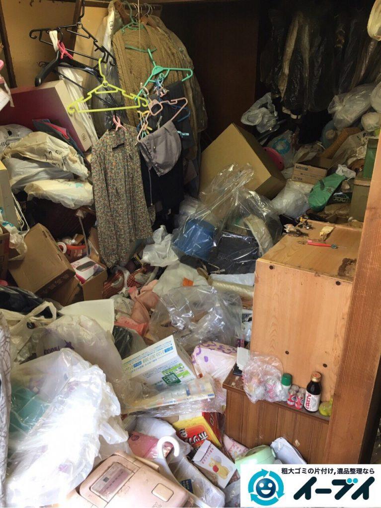 2017年4月28日大阪府茨木市でゴミ屋敷の片付け処分をしました。写真2