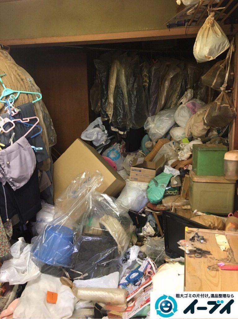 2017年4月28日大阪府茨木市でゴミ屋敷の片付け処分をしました。写真1