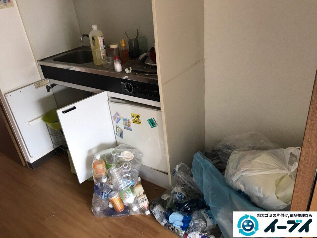 2017年5月1日大阪府大阪市天王寺区で引っ越しに伴う引越しゴミやベランダの廃品の不用品回収をしました。写真3