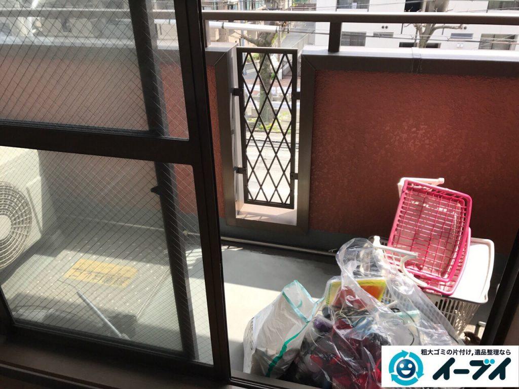 2017年5月1日大阪府大阪市天王寺区で引っ越しに伴う引越しゴミやベランダの廃品の不用品回収をしました。写真1