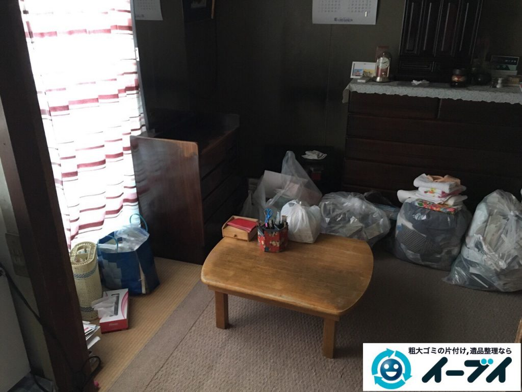 2017年4月24日大阪府大阪市淀川区で遺品整理に伴い家財道具の片付け処分をしました。写真4