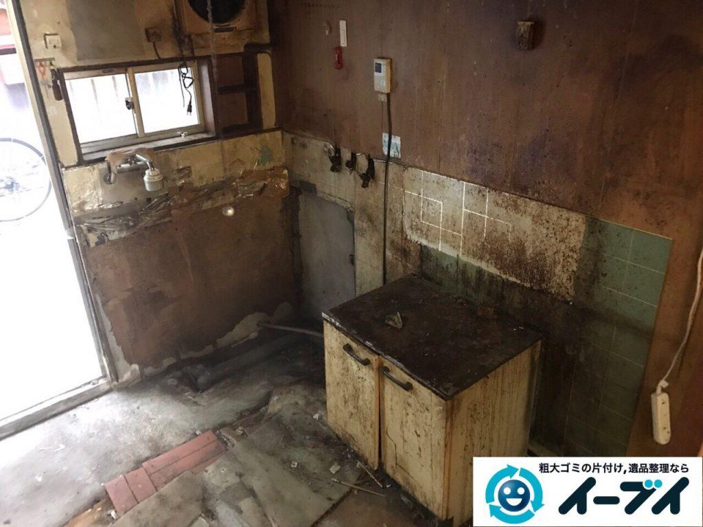 2017年4月19日大阪府大阪市天王寺区で汚部屋状態のゴミ屋敷の片付け処分をしました。写真7