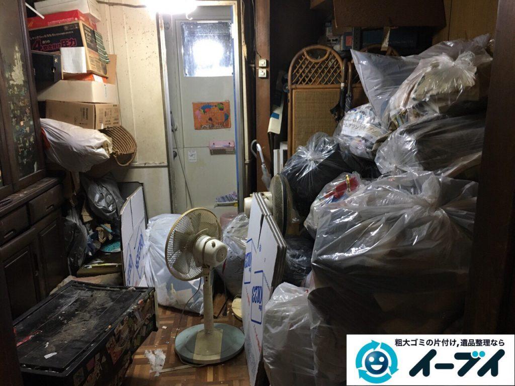 2017年4月19日大阪府大阪市天王寺区で汚部屋状態のゴミ屋敷の片付け処分をしました。写真4