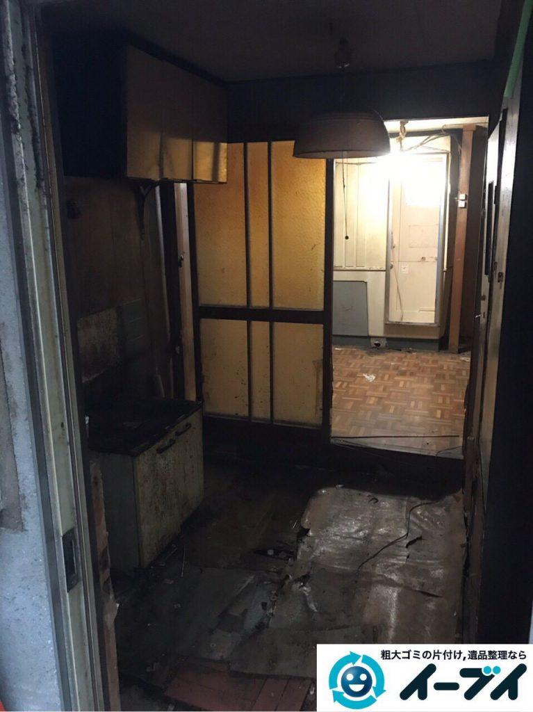2017年4月19日大阪府大阪市天王寺区で汚部屋状態のゴミ屋敷の片付け処分をしました。写真3