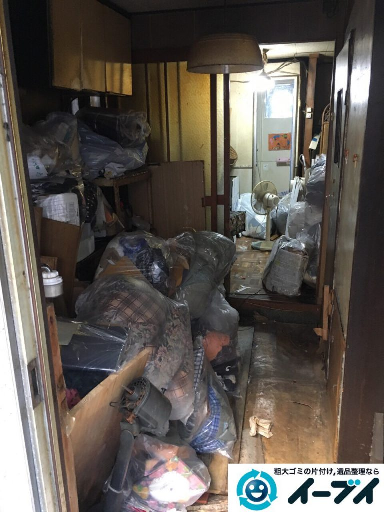 2017年4月19日大阪府大阪市天王寺区で汚部屋状態のゴミ屋敷の片付け処分をしました。写真2