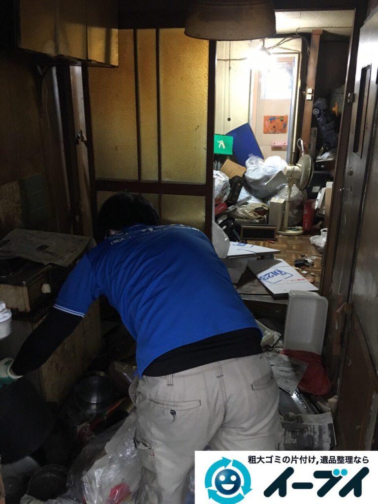 2017年4月19日大阪府大阪市天王寺区で汚部屋状態のゴミ屋敷の片付け処分をしました。写真1