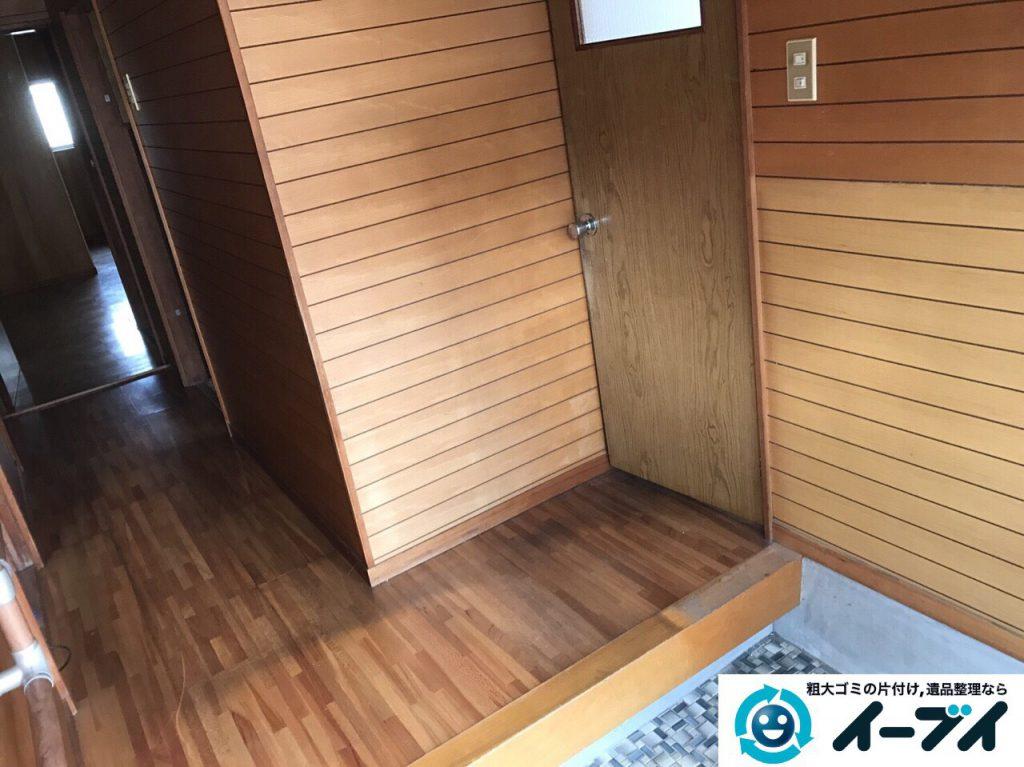 2017年4月13日大阪府大東市で引越しに伴い家具処分や引越しゴミを片付けました。写真3