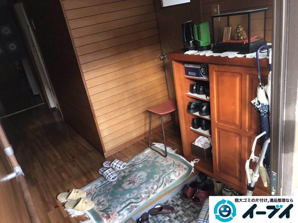 2017年4月13日大阪府大東市で引越しに伴い家具処分や引越しゴミを片付けました。写真2