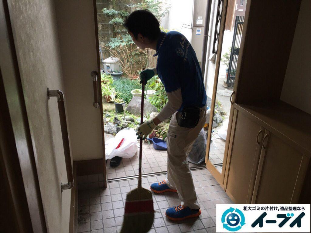 2017年5月9日大阪府大阪市此花区で座卓や座椅子など粗大ゴミの不用品回収をしました。写真2