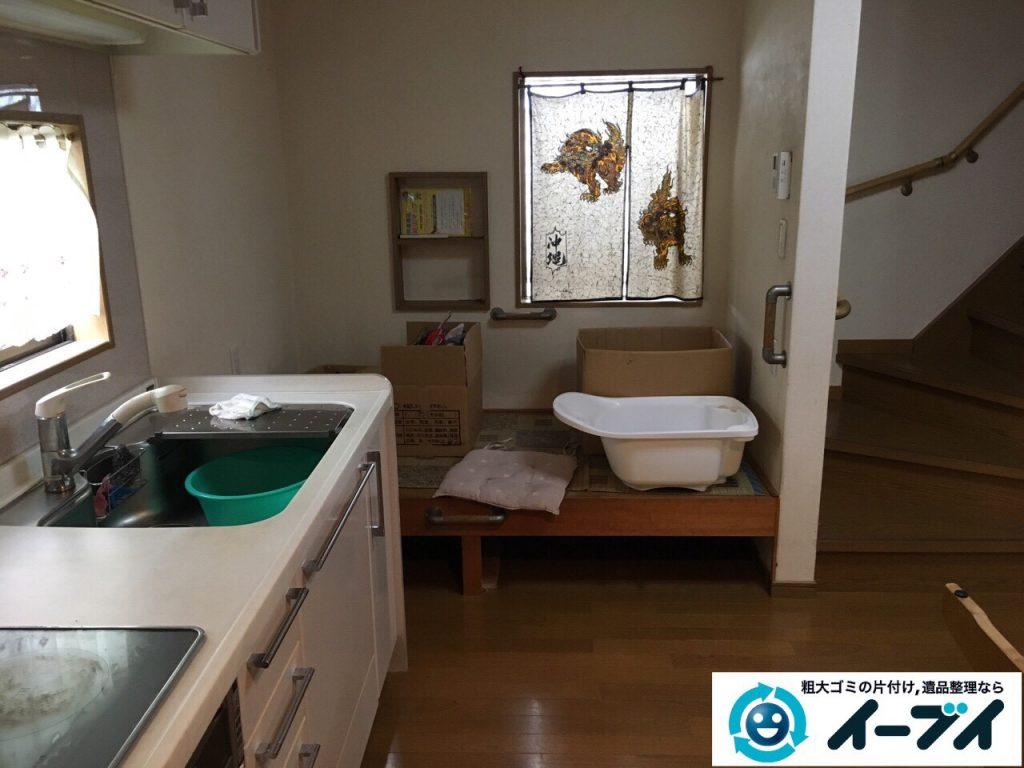 2017年5月6日大阪府大阪市住之江区で遺品整理に伴い生活用品や家具処分をしました。写真1