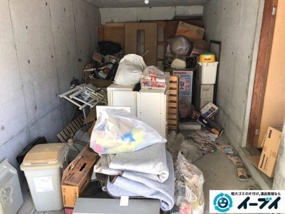 2017年5月4日大阪府大阪市生野区でガレージの廃品や生活用品の粗大ゴミの不用品回収をしました。写真2
