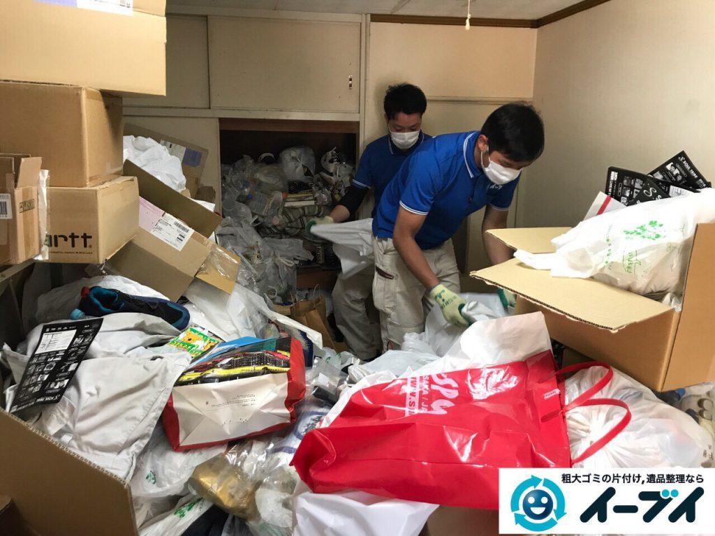 2017年5月30日大阪府吹田市で生活ゴミが溢れているゴミ屋敷の片付けをしました。写真5