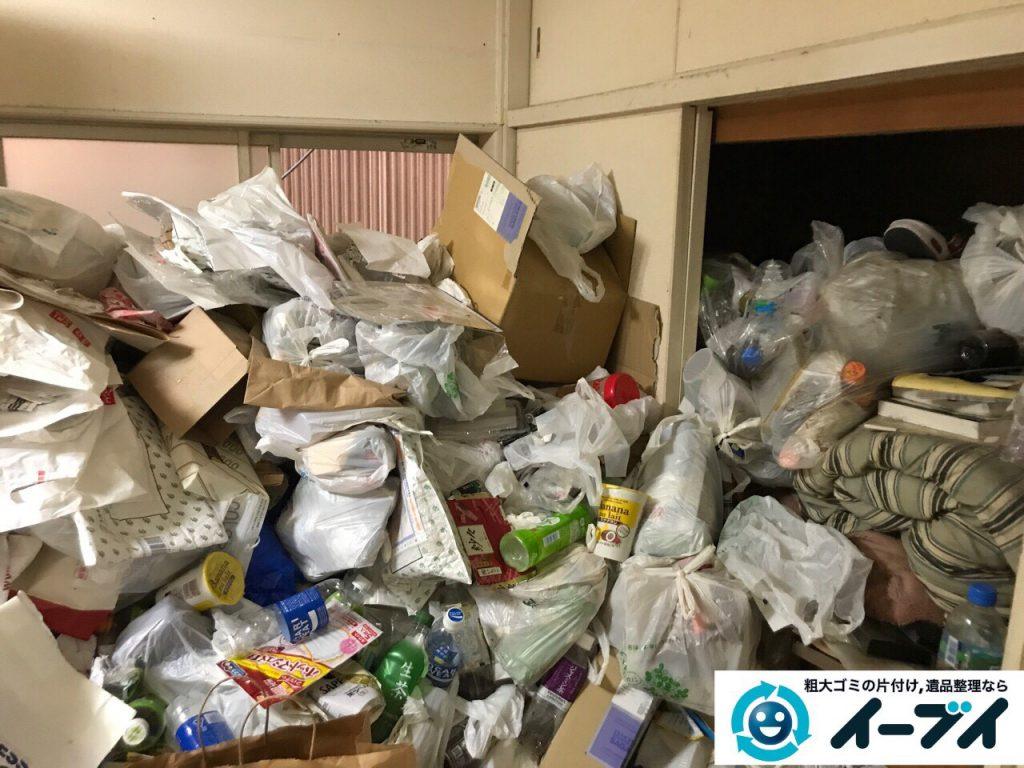 2017年5月30日大阪府吹田市で生活ゴミが溢れているゴミ屋敷の片付けをしました。写真2