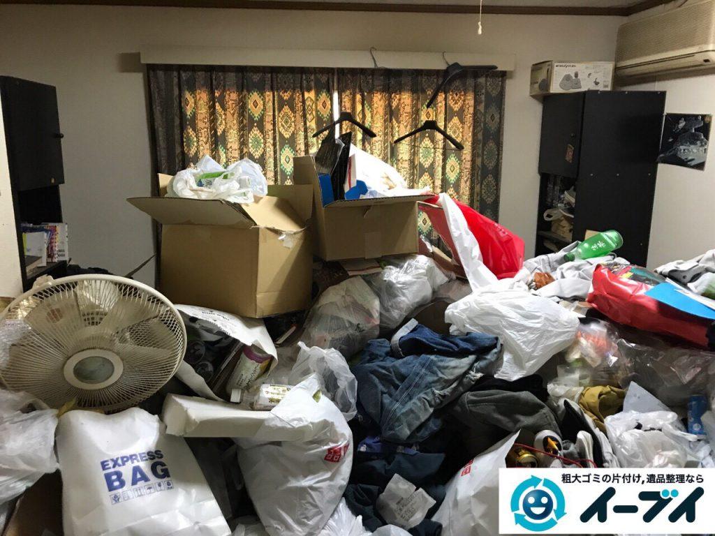 2017年5月30日大阪府吹田市で生活ゴミが溢れているゴミ屋敷の片付けをしました。写真1
