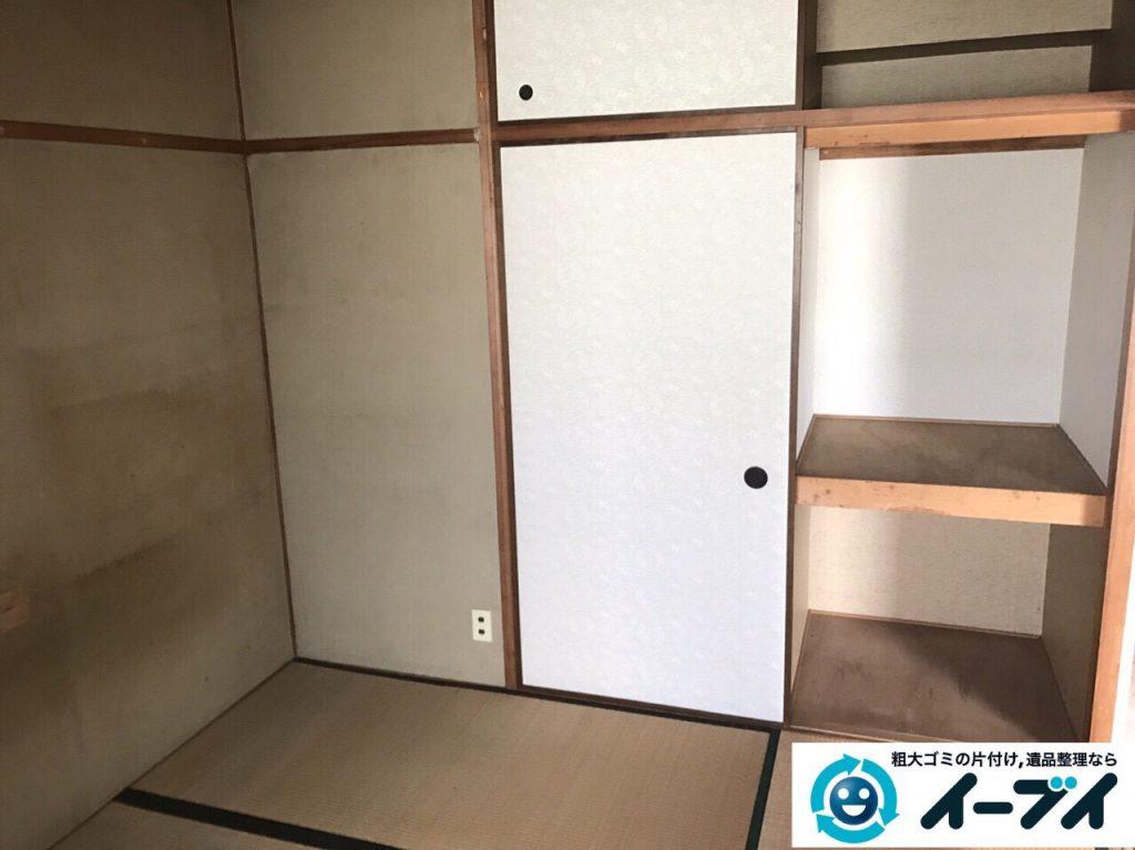 2017年5月24日大阪府岬町で遺品整理に伴い家具や生活用品の処分をしました。写真1