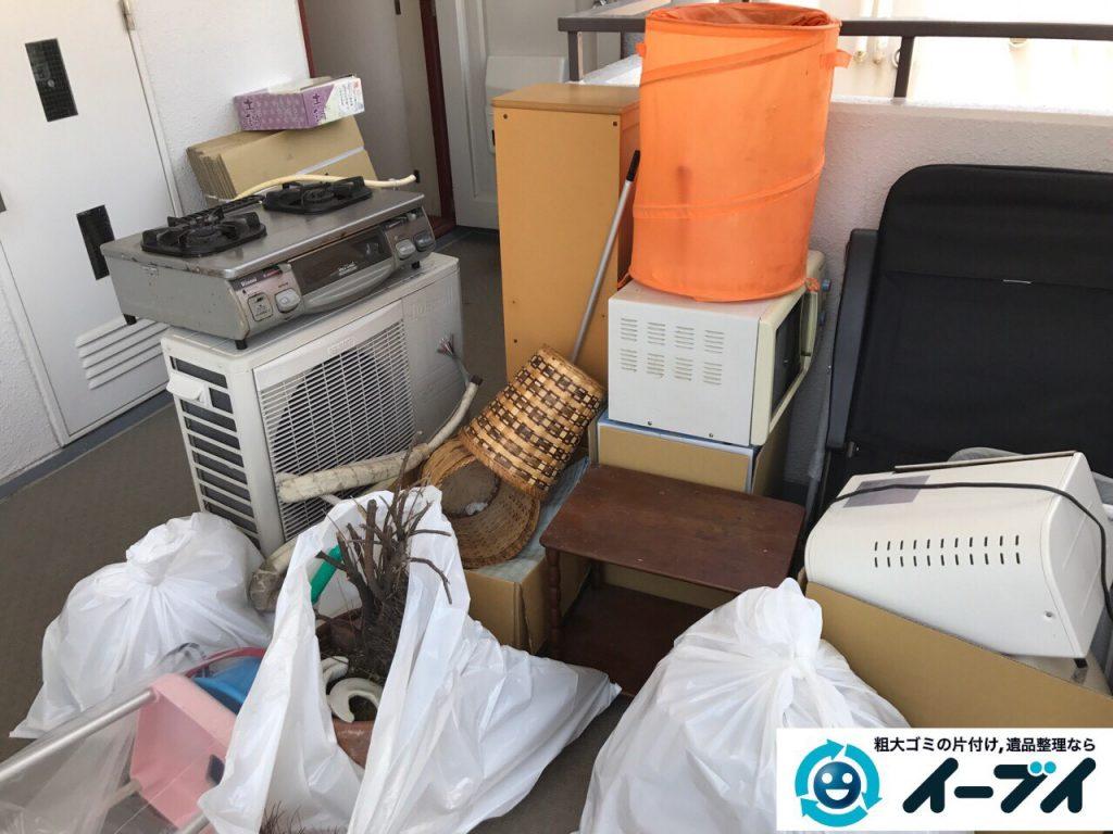 2017年5月12日大阪府大阪市浪速区で引越し後のゴミや粗大ゴミの不用品回収をしました。写真1