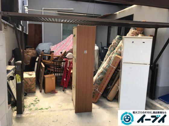 2017年5月16日大阪府箕面市でガレージの粗大ゴミや家財道具の不用品回収をしました。写真2