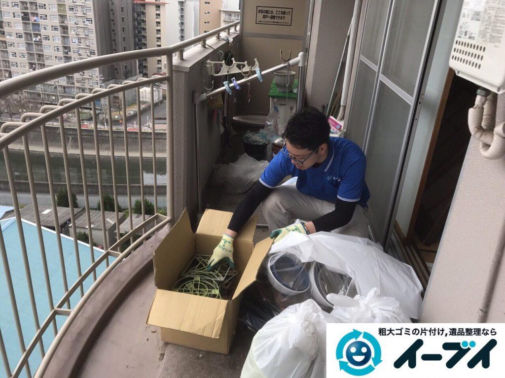 2017年5月18日大阪府大阪市旭区でベランダの廃品や粗大ゴミの不用品回収をしました。写真6