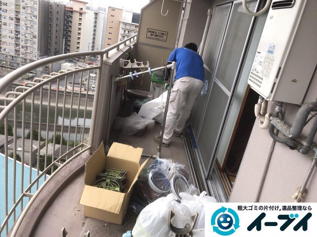 2017年5月18日大阪府大阪市旭区でベランダの廃品や粗大ゴミの不用品回収をしました。写真5