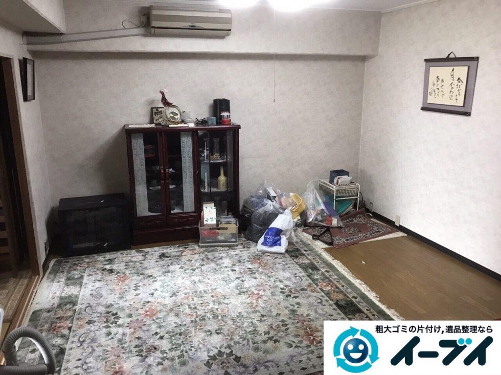 2017年5月27日大阪府大阪市生野区で遺品整理に伴い家具や日用品の処分をしました。写真4