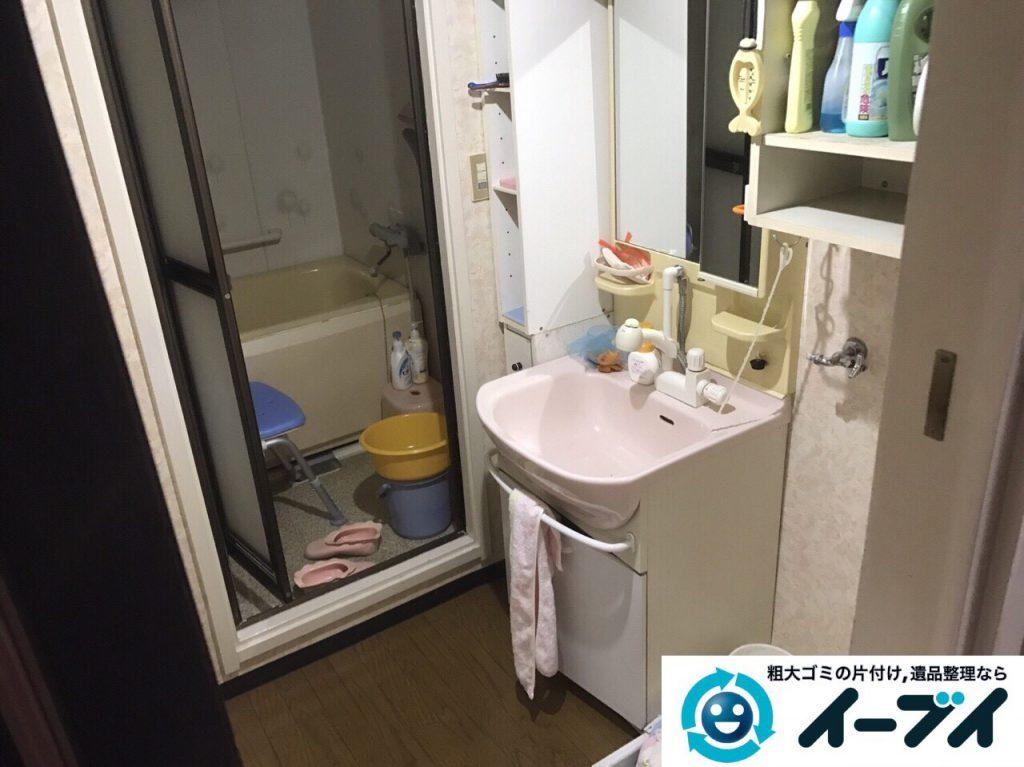 2017年5月27日大阪府大阪市生野区で遺品整理に伴い家具や日用品の処分をしました。写真2