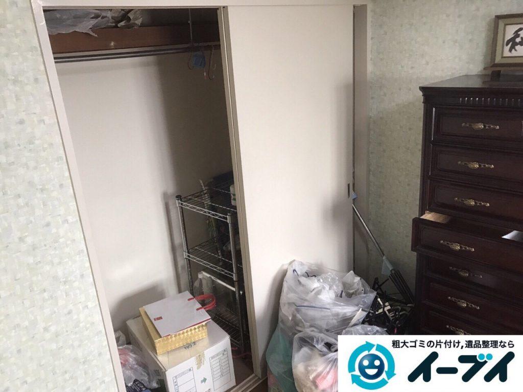 2017年5月25日大阪府大東市で遺品整理に伴い家具や日用品の処分を行いました。写真4