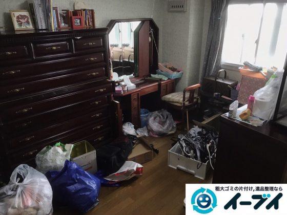 2017年5月25日大阪府大東市で遺品整理に伴い家具や日用品の処分を行いました。写真2