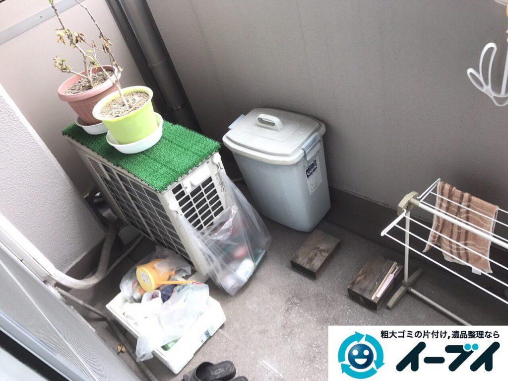2017年5月18日大阪府大阪市旭区でベランダの廃品や粗大ゴミの不用品回収をしました。写真4