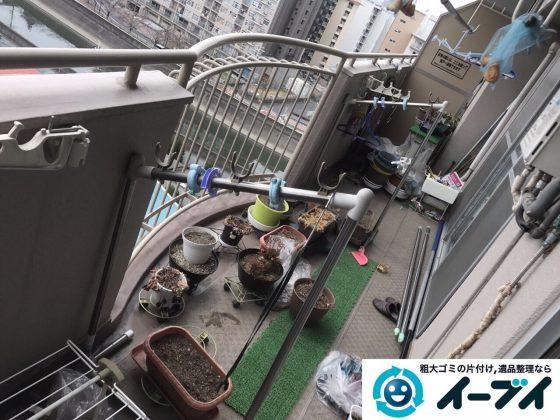 2017年5月18日大阪府大阪市旭区でベランダの廃品や粗大ゴミの不用品回収をしました。写真2