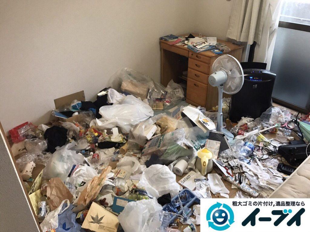 2017年5月31日大阪府箕面市で生活ゴミが散乱しているゴミ屋敷の片付けをしました。写真1
