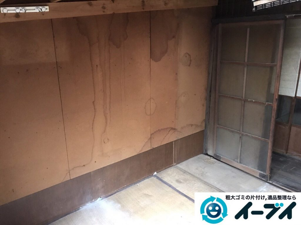 2017年5月22日大阪府大阪市城東区で空き家の室外機や家財道具の不用品回収をしました。写真4
